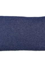 "Kreatelier Rectangular Pillow 11""x21"" Green Flowers/Blue Jeans Back"