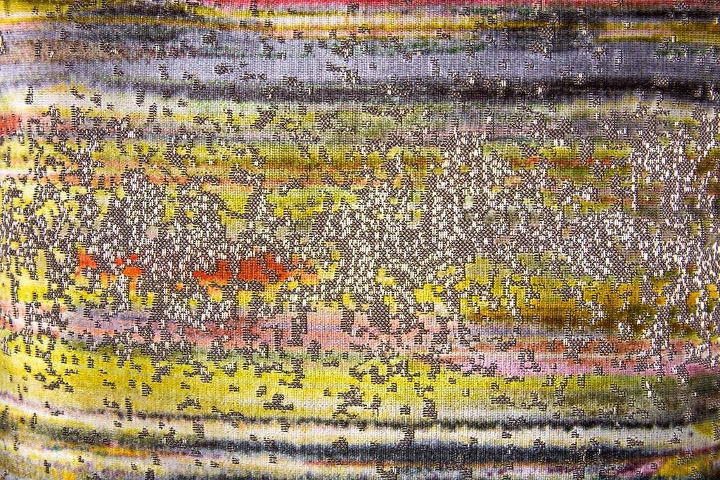"""Kreatelier Square Pillow 16""""x16"""" Multicolor Velvet Grey Back"""