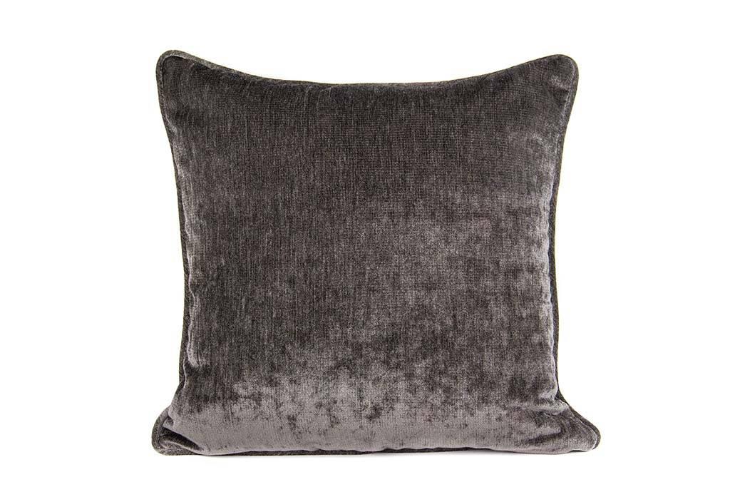 "Kreatelier Square Pillow 18""x18"" Grey Brown"