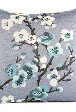 Kreatelier Pillow 18'x18' Blue with Flowers