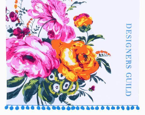 Designers Guild Amrapali Peony Tea Towel