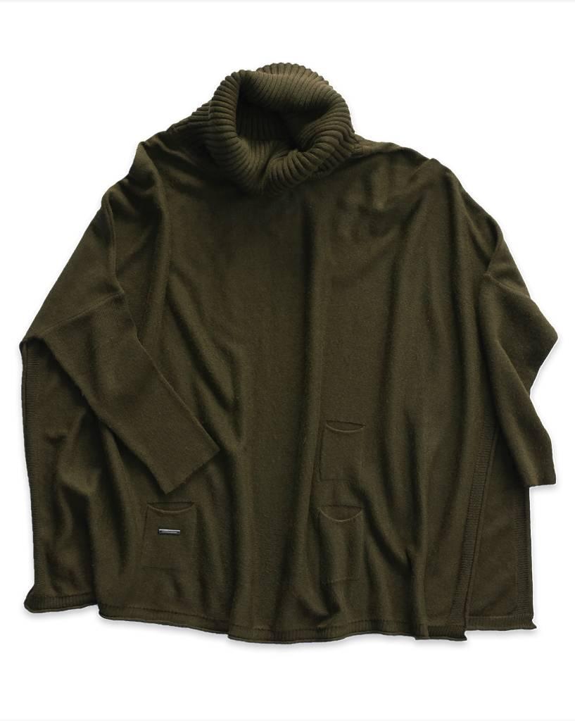 Mer Sea Mini Pocket Travel Sweater OS Olive