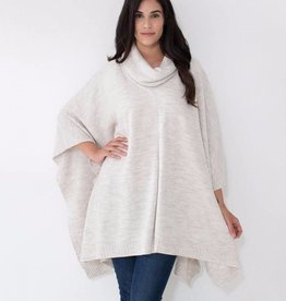 Mer Sea Turtleneck Poncho Travel Sweater OS Sea Salt