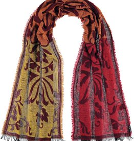 Fraas Blocked Filagree Scarf Spice
