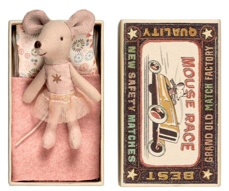 Maileg Mouse Little Sister Gold Star in Box