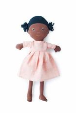 Hazel Village Doll Ada Coral Linen Dress