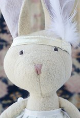 Hazel Village Stuffed Animal Juliette Rabbit Silver and Gold