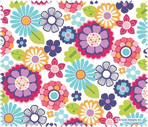 Gina B Designs Microfiber Cloth Bright Flower Petals