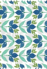 Gina B Designs Microfiber Cloth Blue/Green Vine