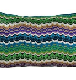 "Kreatelier Rectangular Pillow 15""x22"" Multicolor Ocean"