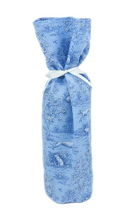 Kreatelier Bottle Gift Bag Blue Nature