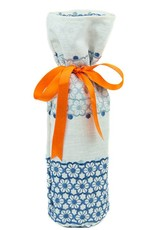 Kreatelier Bottle Gift Bag Embroidered Flowers