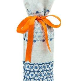 Kreatelier Bottle Gift Bag Embroidered Flowers