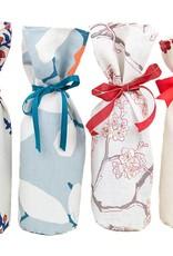 Kreatelier Bottle Gift Bag  Blue and Red Buds