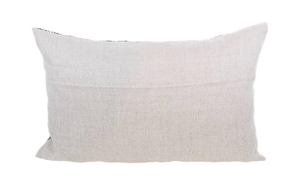 Kreatelier Marbled Linen Pillow in Grey - 15 x 23in