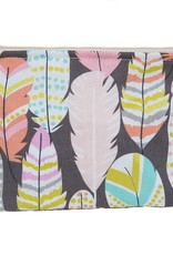 Dana Herbert Accessorries Cosmetic Bag Metallic Feather Small