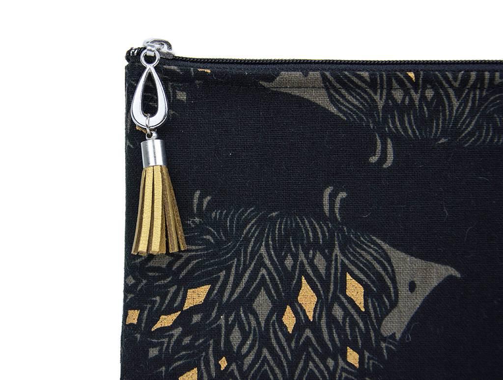 Dana Herbert Accessorries Canvas Pencil Bag Hedgehog