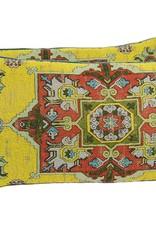 """Kreatelier Rectangular Pillow 11""""x21"""" Dijon Moroccan/Blue Velvet Back"""