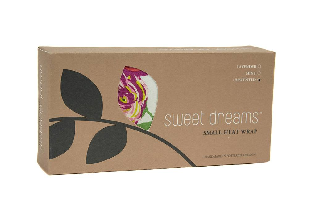 Dana Herbert Accessorries Unscented Small Heat Wrap White and Berry Floral