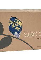 Dana Herbert Accessorries Unscented Small Heat Wrap Navy and Aqua Floral