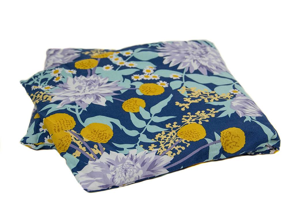 Dana Herbert Accessorries Unscented large Heat Wrap Navy and Aqua Floral