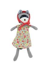 Hazel Village Stuffed Animal Gwendolyn Raccoon in Liberty Dress