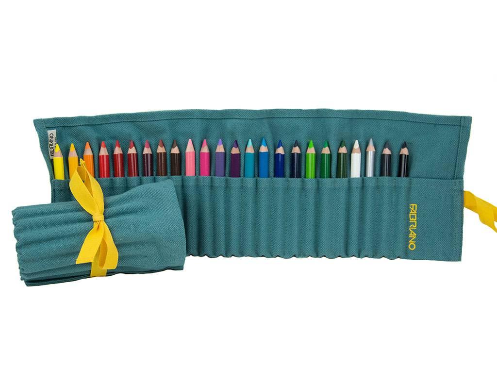 Fabriano Pencil Case Aqua 24 Crayons