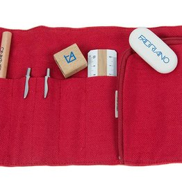 Fabriano Mini Pencil Case Red