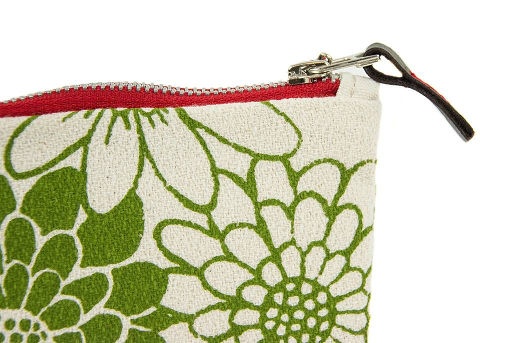Erin Flett Small Zip Bag Green