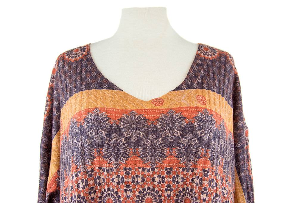 Nally and Millie Multicolor Printed V-Neck