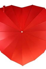 Red Heart Shaped Umbrella