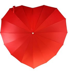 Abbott Red Heart Shaped Umbrella