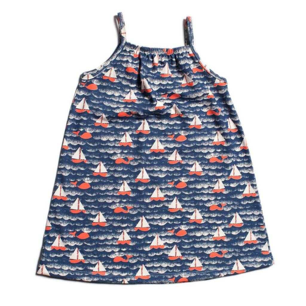 Winter Water Factory Milano Dress Sailboats Navy & Orange
