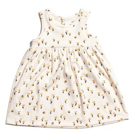 Winter Water Factory Oslo Baby Dress Tulips Yellow