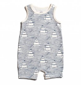 Winter Water Factory Tank Top Romper High Seas Navy