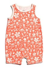 Winter Water Factory Tank Top Romper The Garden Coral