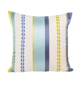 Kreatelier Crenelle Pillow in Teal Shimmer - 18 x 18in