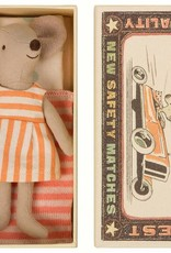Maileg Mouse Big Sister Striped Dress in Box