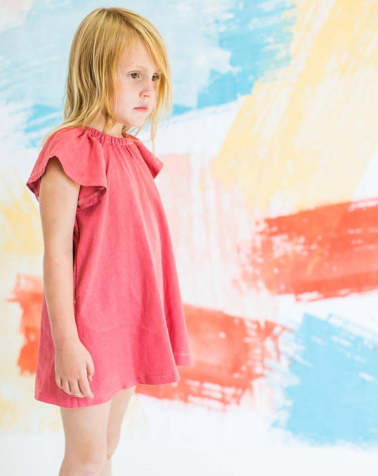Chaboukie Butterfly Dress in Coral