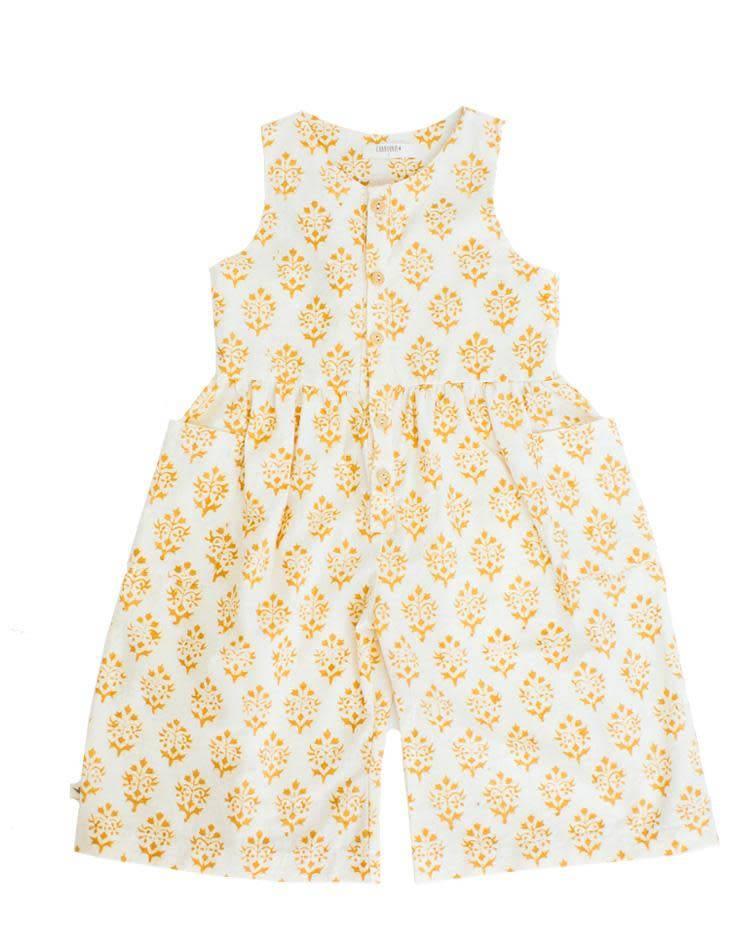 Chaboukie Crop Jumpsuit Marigold