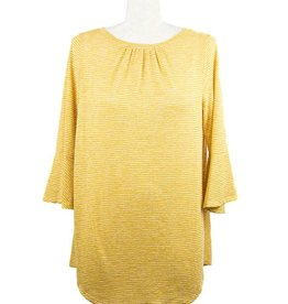 Nally and Millie Stripe Ruffle Tunic in Sunflower