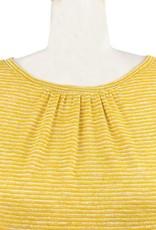 Nally and Millie Stripe Ruffle Tunic in Sunflower