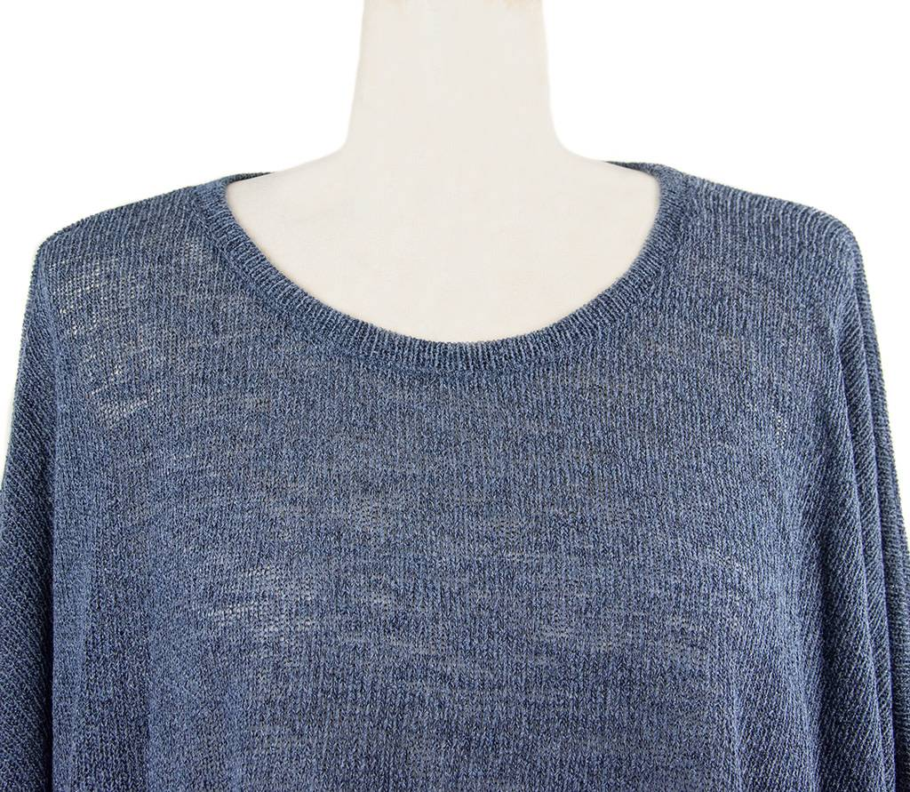 Nally and Millie Pleated Back Tunic in Dark Denim