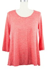 Nally and Millie Pleated Back Tunic in Poppy Red