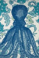 Kreatelier Octopod Pillow in Aqua - 24 x 24in