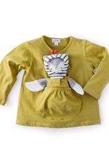 Hazel Village Bracken Green Shirt with Kangaroo Pocket