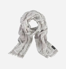 Fraas Moroccan Scroll Scarf in Silver