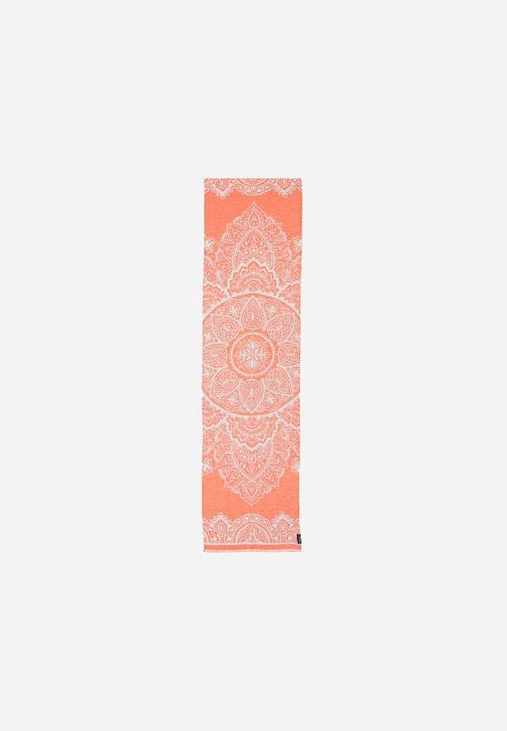 Fraas Moroccan Scroll Scarf in Vermillion