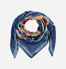 Fraas Mandala Foulard in Royal Azure