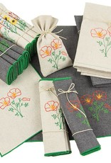 Eko Kreations Poppy Kitchen Towels in Cream